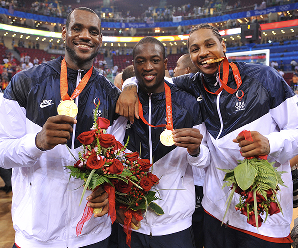 LeBron James, Dwyane Wade, Carmelo Anthony