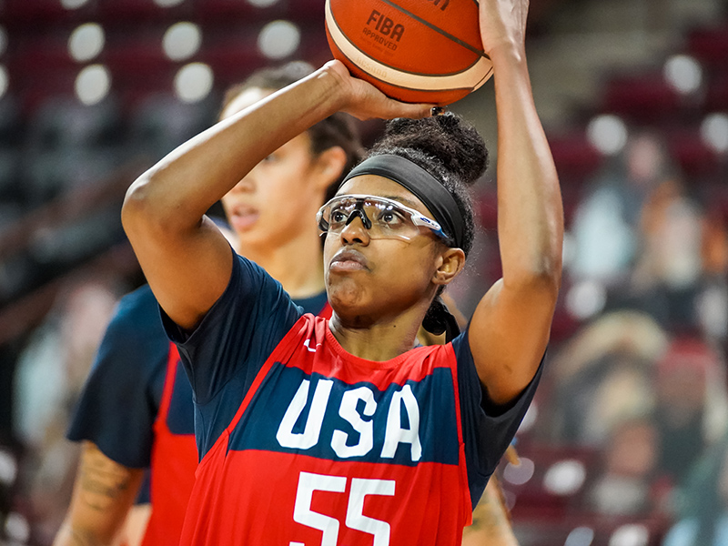 Diamond DeShields is happy to be back on the court with the USA squad.