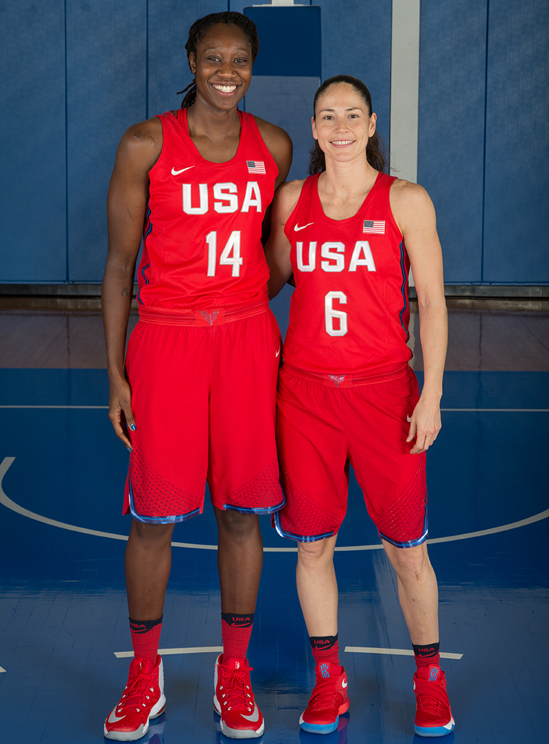 Tina Charles and Sue Bird both played at Christ The King High School in New York.