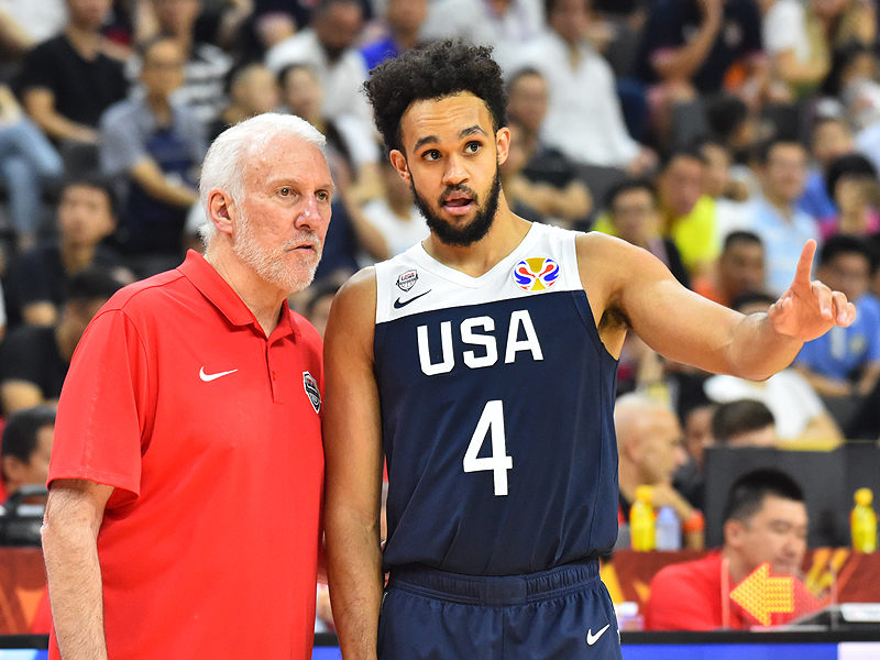 Gregg Popovich and Derrick White