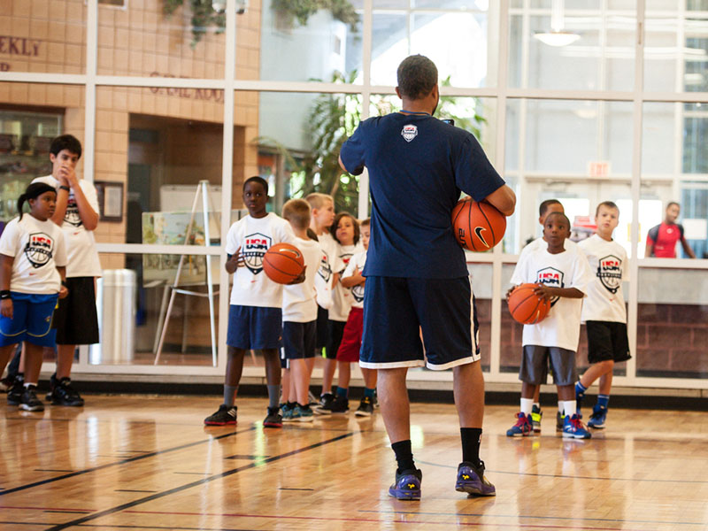 Coaching with the help of USA Basketball.