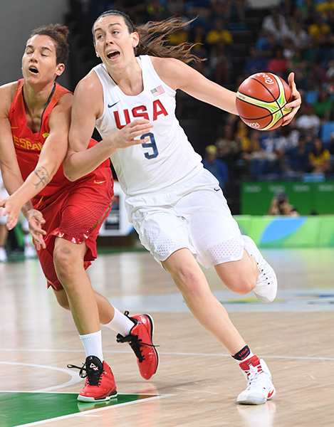 Breanna Stewart scored 11 points, two rebounds and two assists.