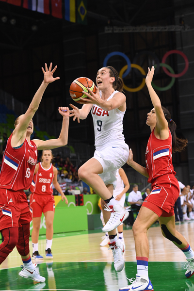 Breanna Stewart finished with 17 points to go with five rebounds, a steal and a block.