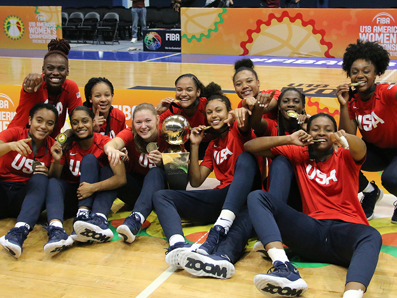 2018 USA U18 women celebration