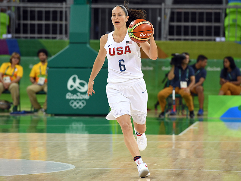 Sue Bird scored five points and dished out eight of the USA's record-setting 36 assists.
