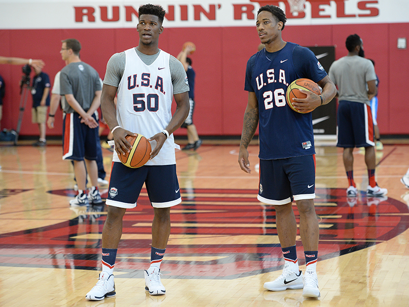 Jimmy Butler and DeMar DeRozan