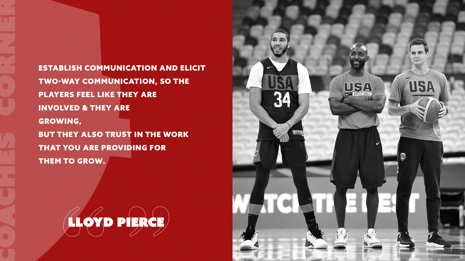 Coaches Corner: Lloyd Pierce