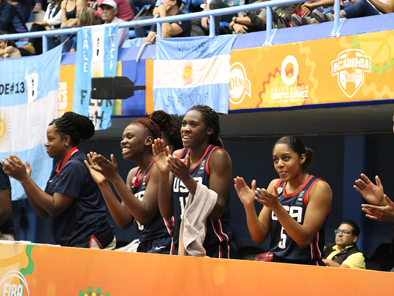 USA U18 Women Versus Colombia