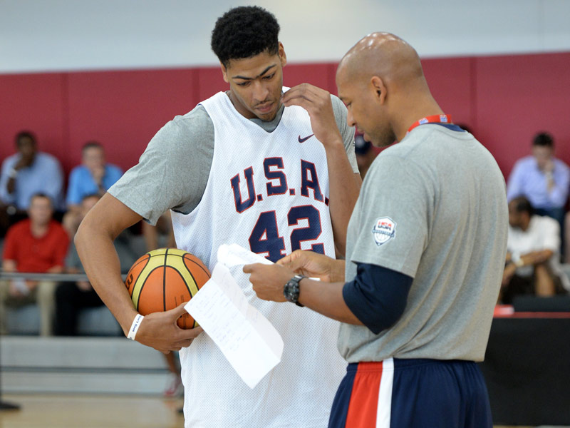 Anthony Davis and Monty Williams